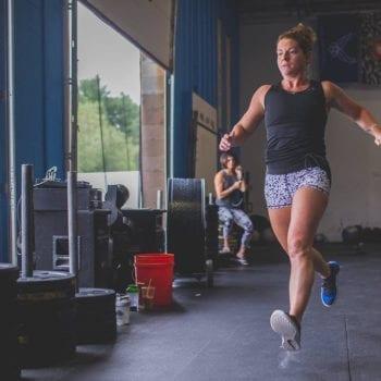 Jen Running at CrossFit