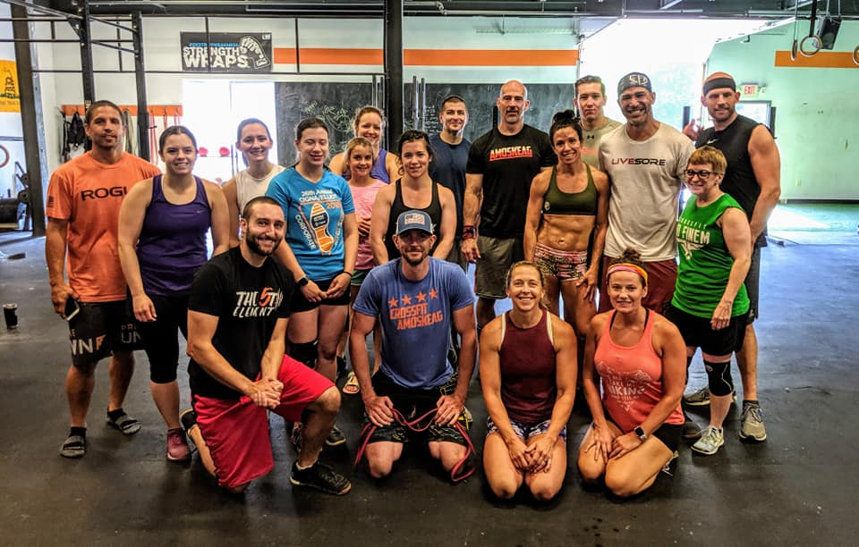Recent handstand clinic group photo