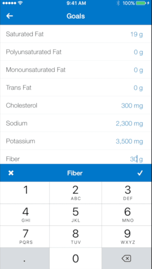 mfp check micro goals