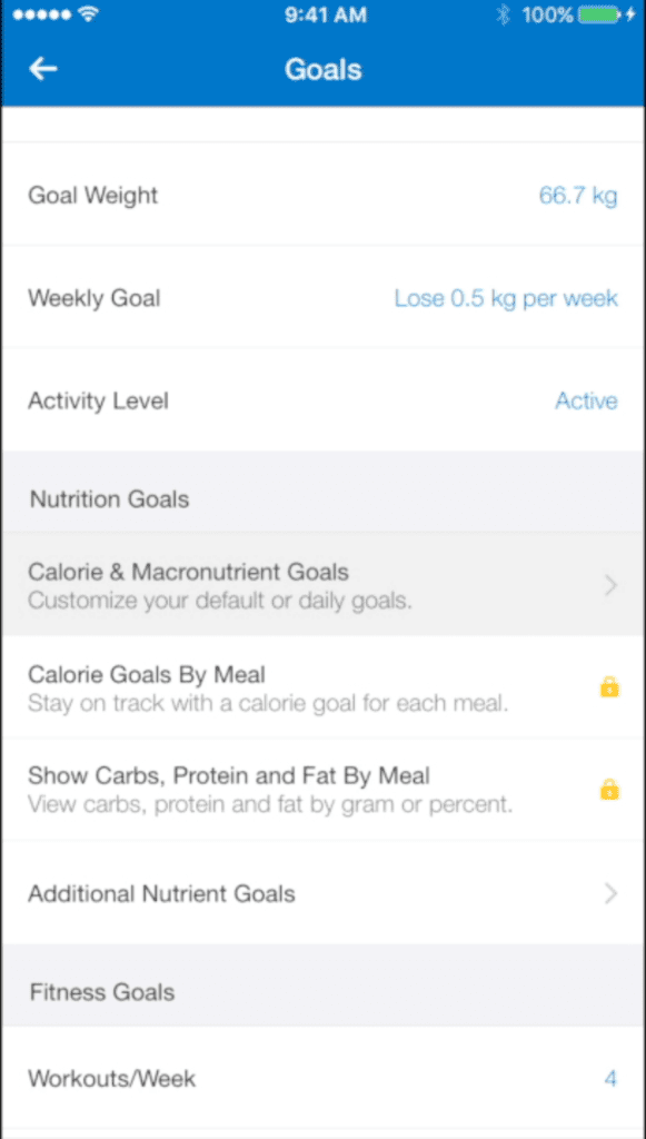 mfp macronutrient goals