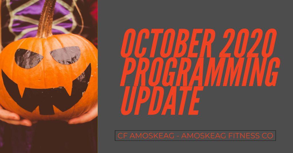 October crossfit programming update